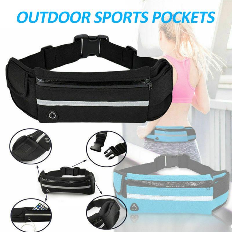 Unisex Sports Running Jogging Waist Travel Bum Bag Phone Keys Mobile Money Belt