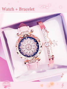 Bracelet Watch Clock Quartz Starry-Sky Relogio Feminino Ladies Casual