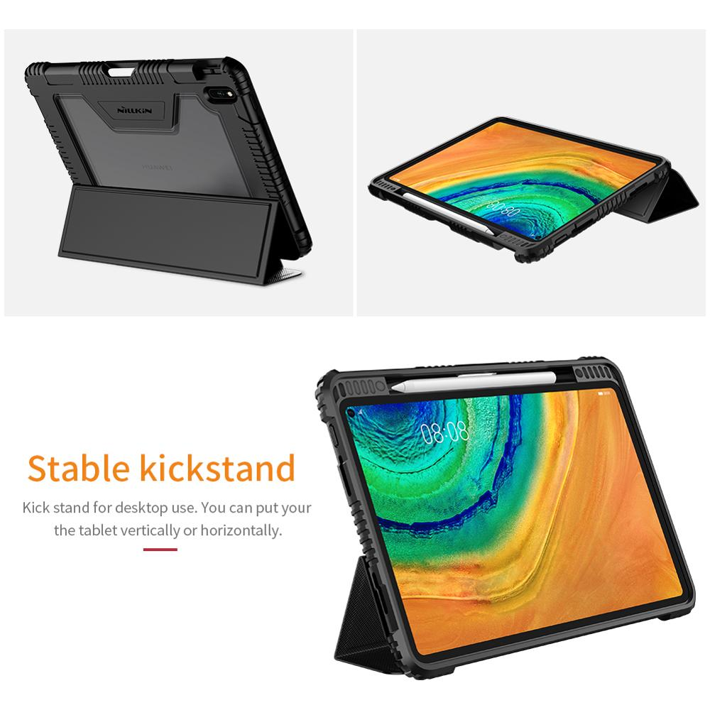 NILLKIN ipad case For Huawei Matepad Pro Case PU Leather Smart Cover Case Stand With Pencil holder For Huawei Matepad Pro 10.8