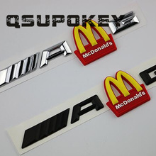 Car-Sticker-Decoration Arch-Car-Logo-Plate Best-Selling Mcdonald's-M Word Modified Gold