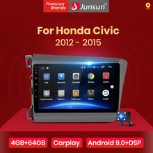 Junsun V1 pro 4G + 64G CarPlay Android 9,0 DSP для Honda Civic 2012 2013-2015 автомобильный Радио мультимедийный видео плеер навигация GPS(Китай)