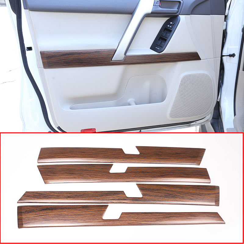 For Toyota Land Cruiser LC200 2016-2019 Wood Grain door handle decoration trim