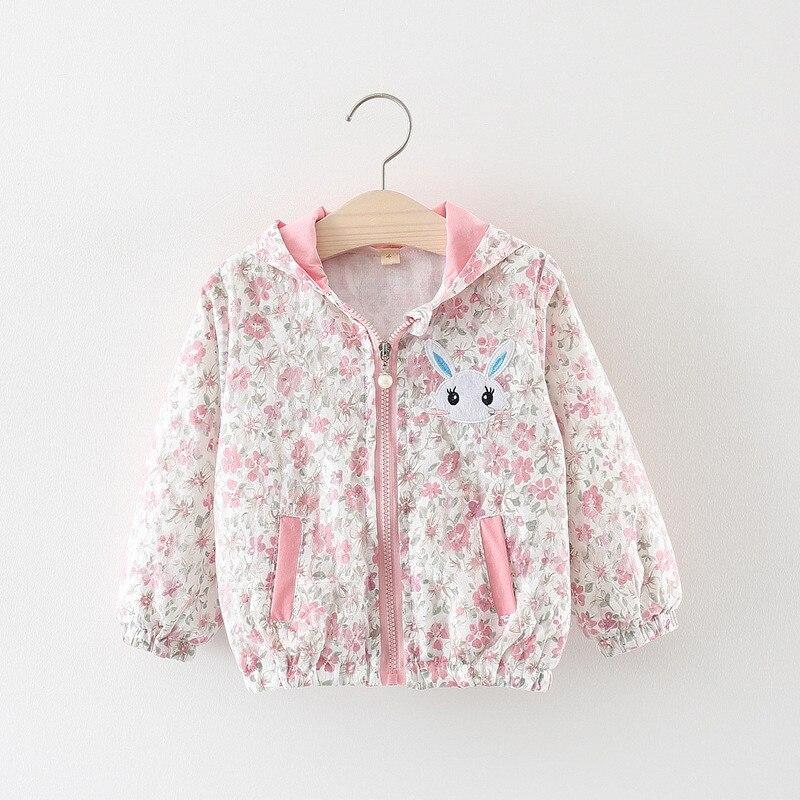 Chaqueta cortavientos para ni/ña ni/ño Sudadera con capucha conejo Escudo de manga larga Bonita primavera Oto/ño Outwear