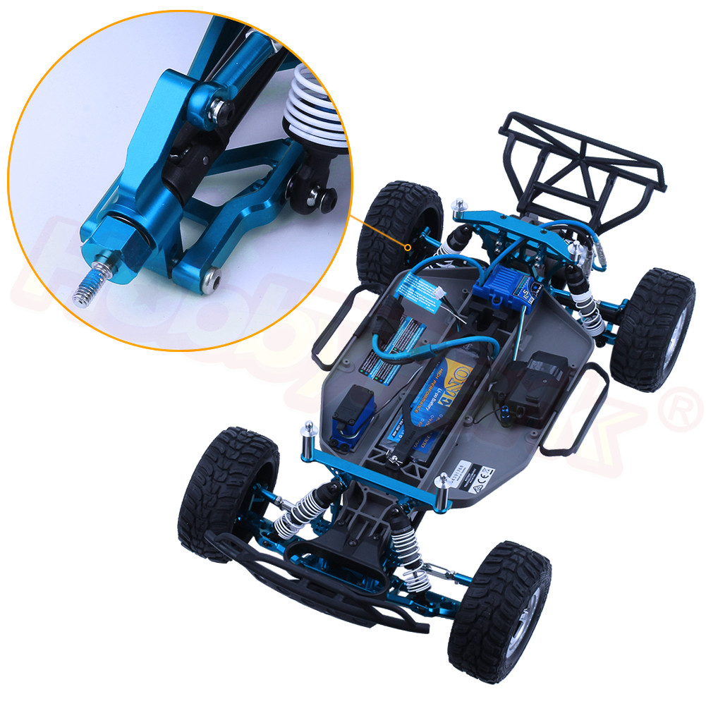 Blue Alloy Stub axle Carriers Upgrade Parts 3752 for 1//10 Traxxas Slash 2WD Hop Ups RC Car