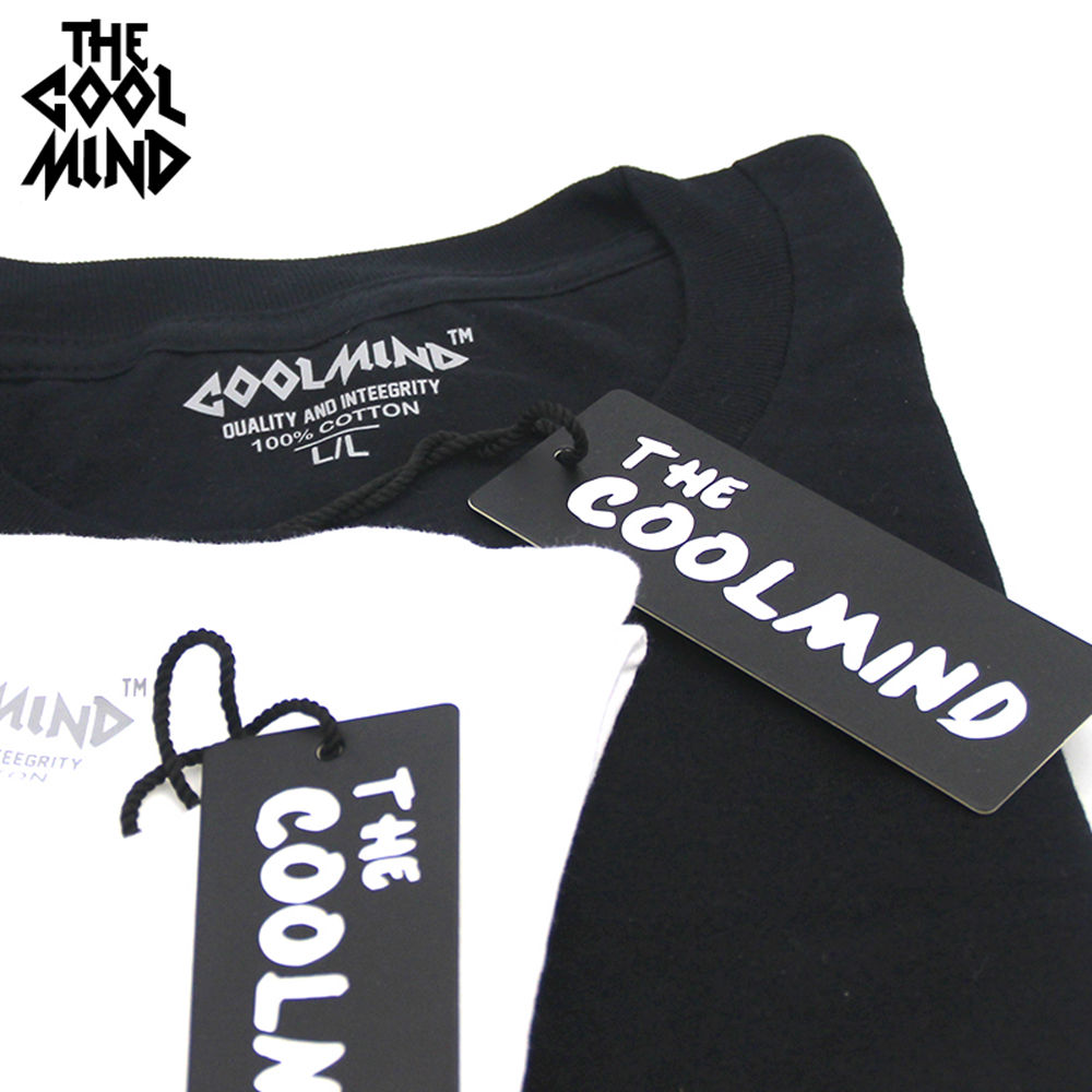 COOLMIND top quality 100% cotton cool men T shirt casual space long sleeve men tshirt o-neck  print t-shirt male men tee shirts