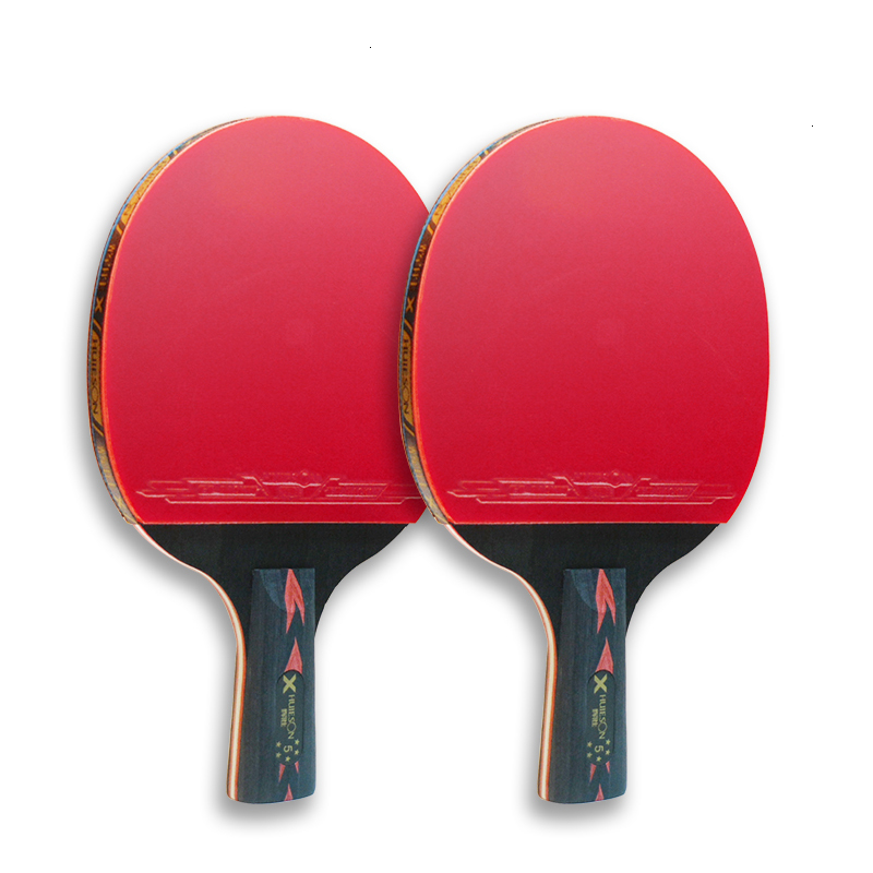 Huieson 2Pcs Upgraded 5 Star Carbon Table Tennis Racket Set Lightweight Powerful Ping Pong Paddle Bat with Good Control (6)