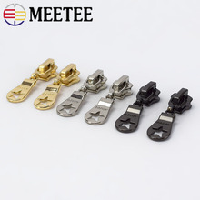 20/50pcs Meetee 5# Auto Locks Metal Zipper Head For Sewing Fashion MetalZipper Sliders Zip Repari Kits DIY Accessories G2-2