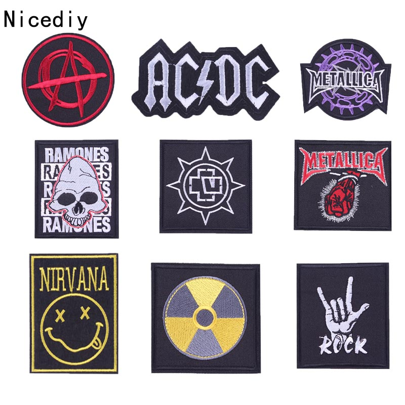 DISTURBED PATCH DISTURBED BAND SMILE FACE PATCH EMBROIDERED HEAVY METAL DIY