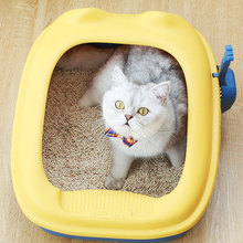 Litter-Box Semi-Enclosed Cat Toilet Pets-Toilet-Configure Detachable Sand-Box-Supplies