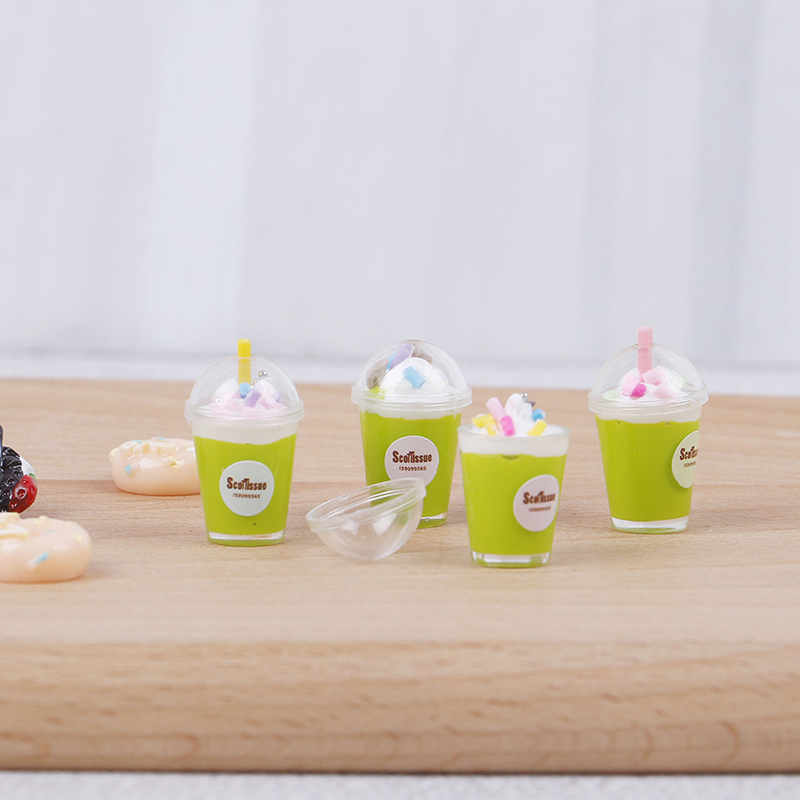 Dollhouse Mini Food Decor Fruit Ice cream cup Simulation Kid Toy PLF