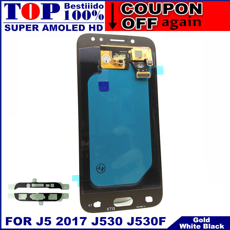 Digitizer-Assembly Lcd-Display Touch-Screen AMOLED Lcd J5 J530 Samsung Galaxy Brightness-Adjustment title=