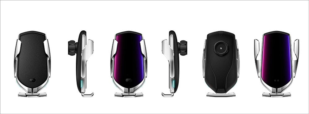 概念车载智能无线充支架-银色