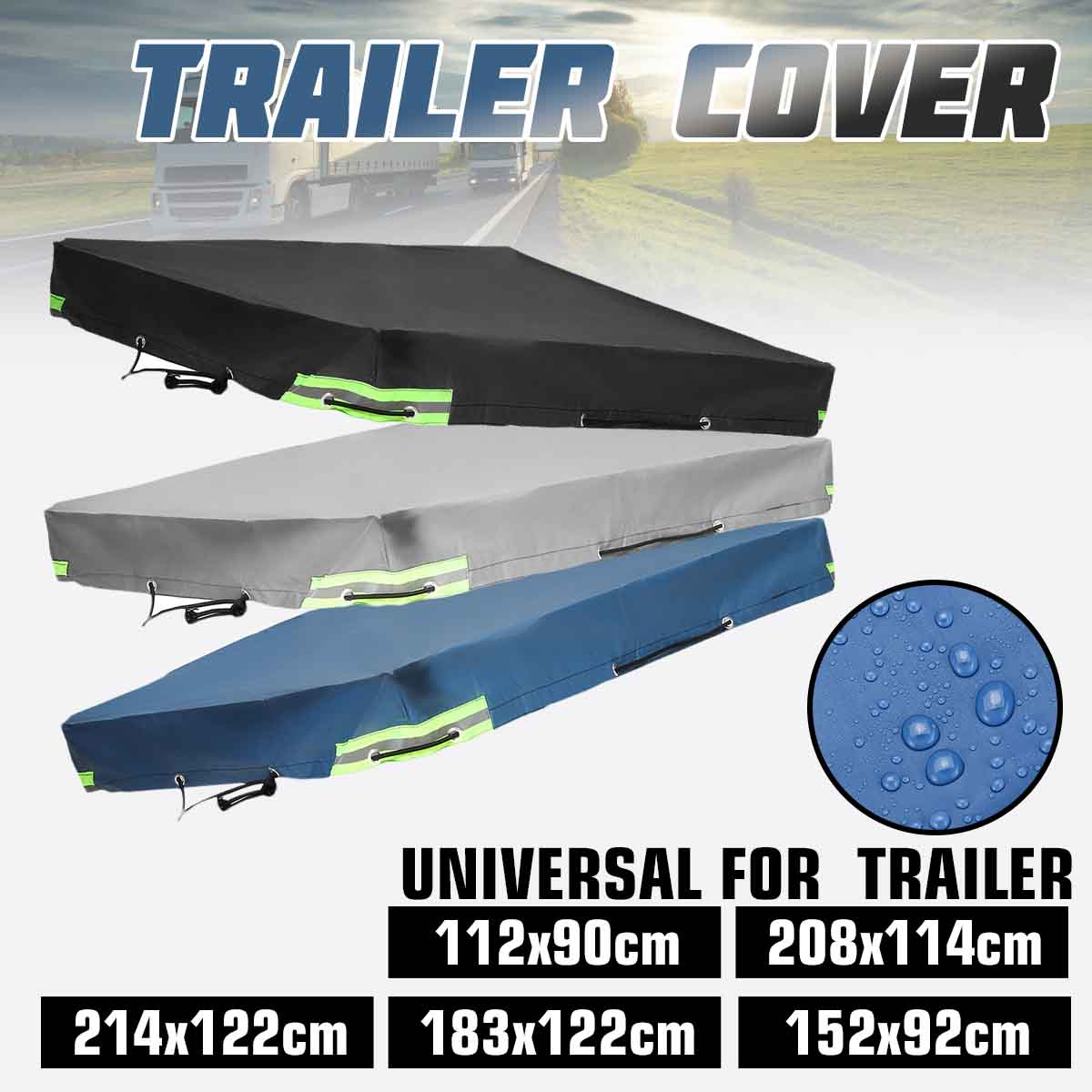 Sunshade Car-Cover Trailer Outdoor-Protector Auto-Roof-Tent Camping-Canopy Travel Windproof title=