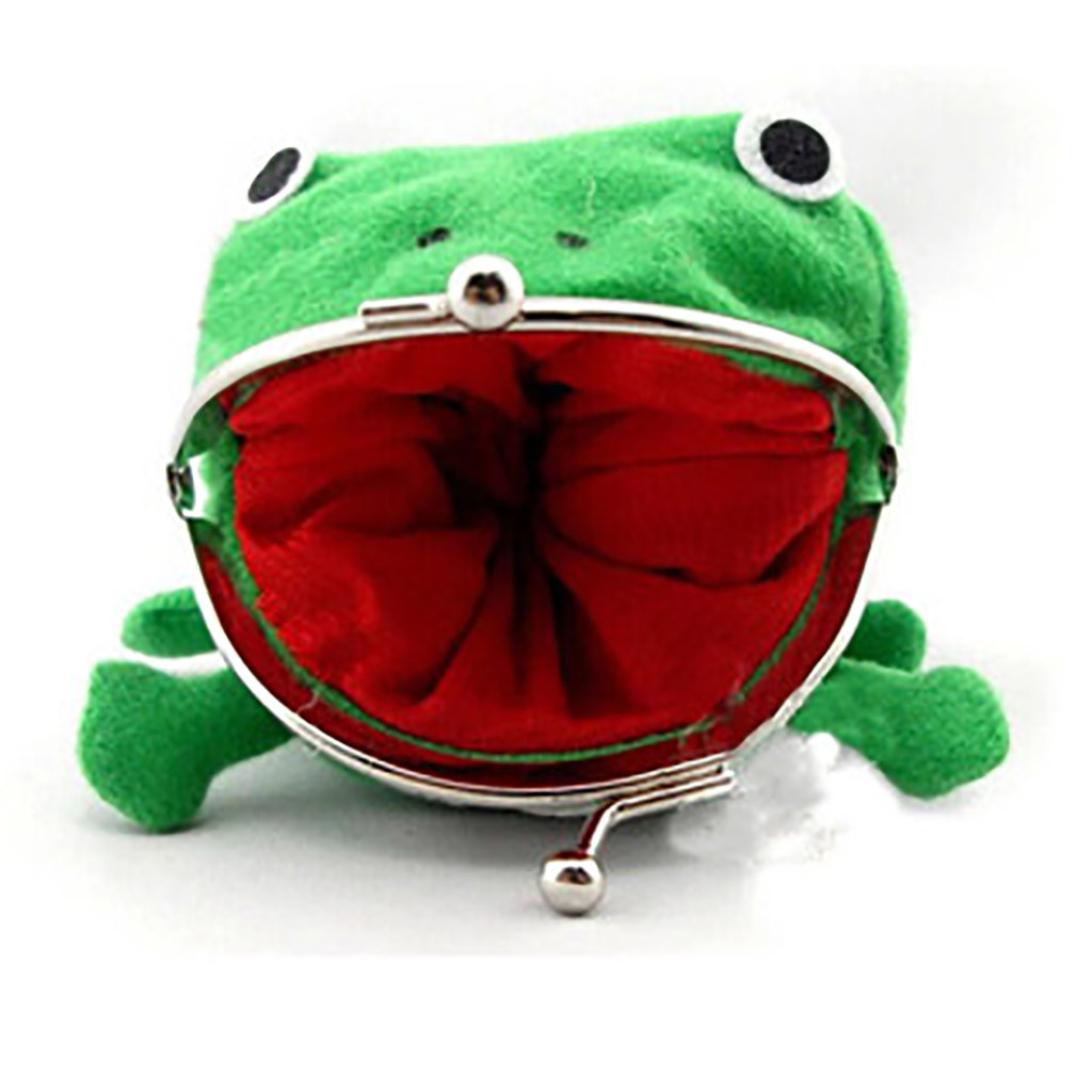 Naruto Cute Green Frog Coin Bag Cosplay Props Plush Frog purse Toy Purse Wallet Funny Gift penny bag Sundries Money Bag 823