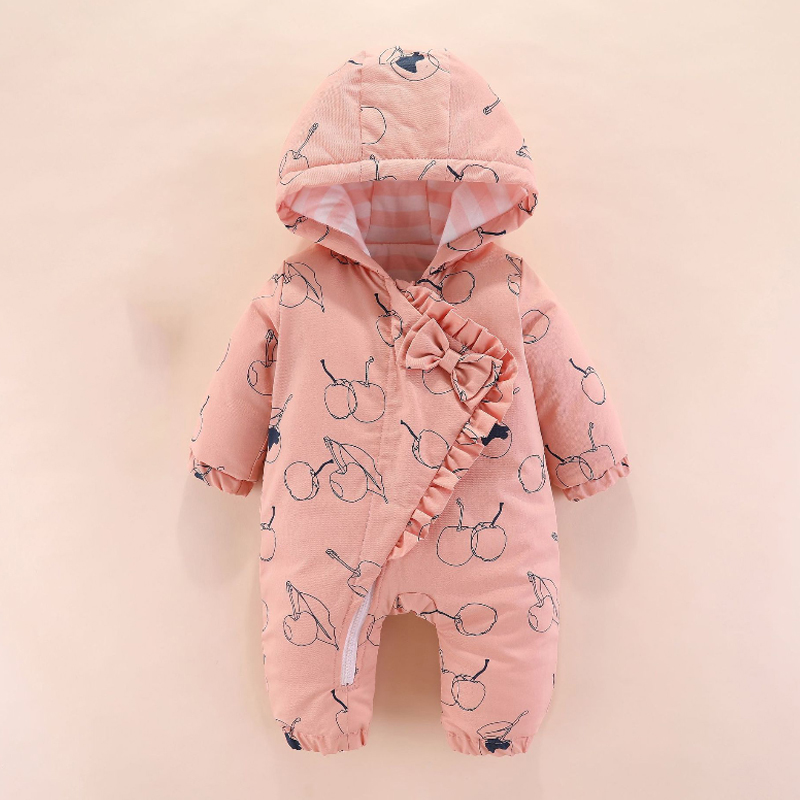 IYEAL Princess Baby Girl Rompers for Newborn to 12M – Infant Pajamas Winter Jacket Outerwear Coat Toddler Costume