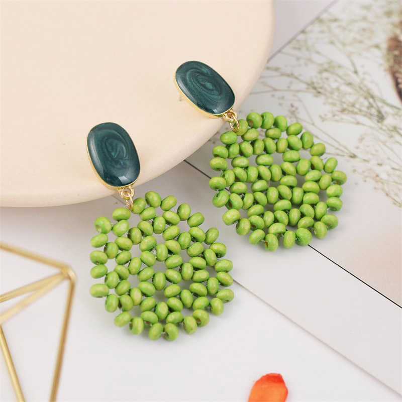 19 Fashion Boho Round Square Geometric Wooden Drop Earrings For Women Bohemian Vintage Wood Beaded Dangle Earring Jewelry Gift 20