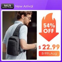 Мужская сумка через плечо Mark Ryden, модная многофункциональная водонепроницаемая нагрудная сумка, подходит для Ipad 9,7 дюймов, 2019