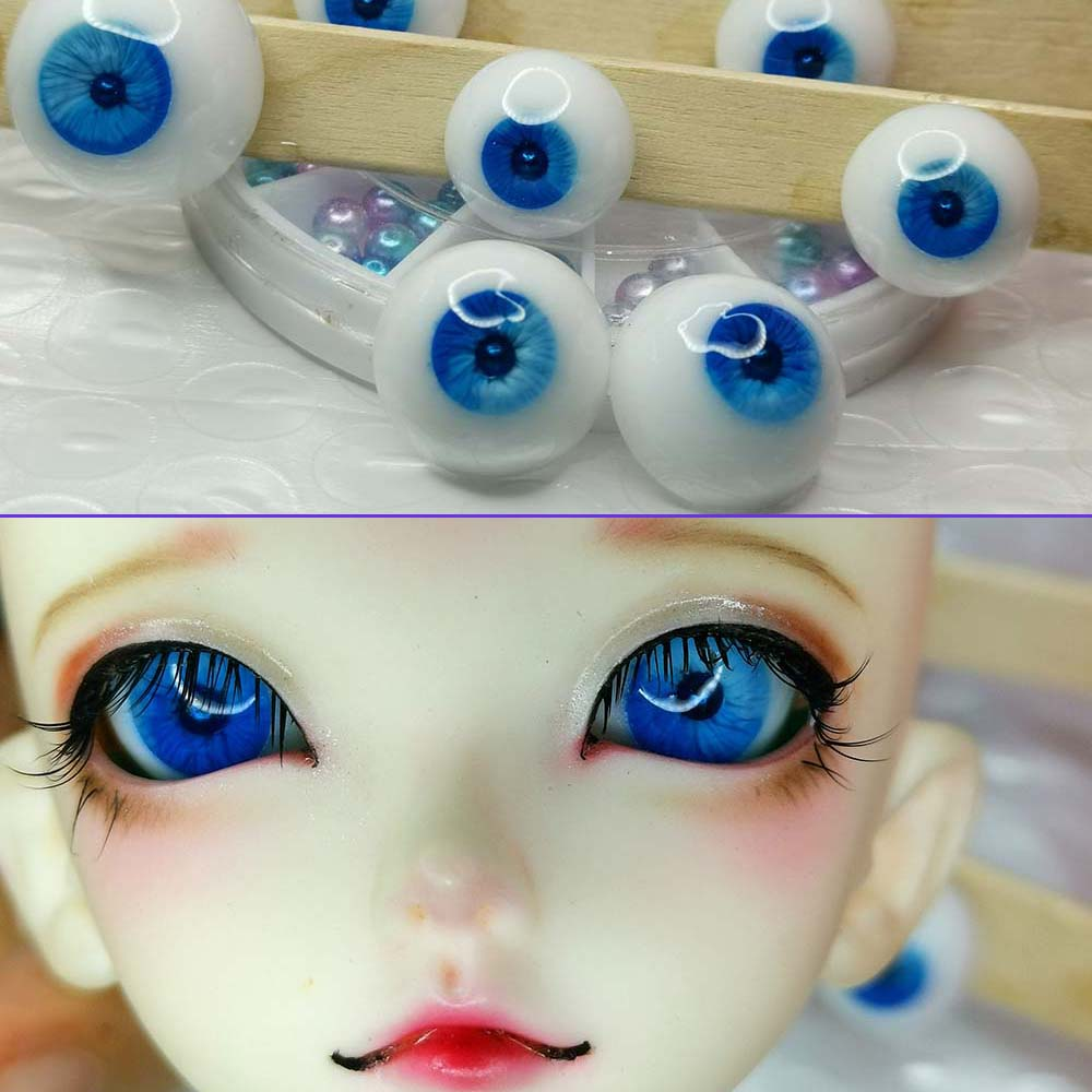 Good 10MM Blue Pupil Dark Green Glass BJD Eyes For Joint 1//6 BJD Dollfie
