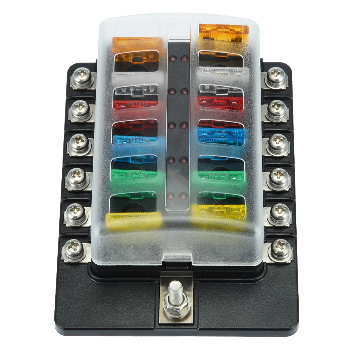 5//Pcs Car Boat Fine 14 Gauge In-line ATC//ATO Fuse Holder with 30A Fuse Blade