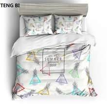 New sleek minimalist style bedding digital printing fruit pattern bedding set United States Australia EU country size 3PCS(China)
