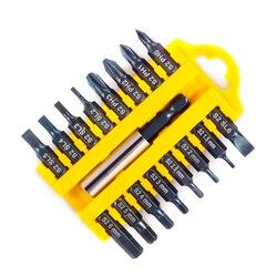 Jewii 17-Pcs Отвертка Набор бит магнитный стержень Phillips шлицевая Torx шестигранные электрический сверла Мощность бытовой ручной инструмент