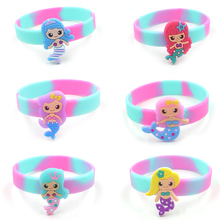 Random Mermaid Wrist Strap Kids Bracelet Toy Princess Gril Happy Birthday Decor Kids Girl Mermaid Theme Party Gift For Guests