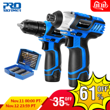 PROSTORMER Cordless Screwdriver Drill Electric-Drilling-Machine Power-Tool Torque Mini