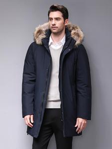 Blackleopardwolf 2019 Мужская теплая зимняя брендовая куртка съемный роскошный меховой воротник ветрозащитный пуховик BL-852M