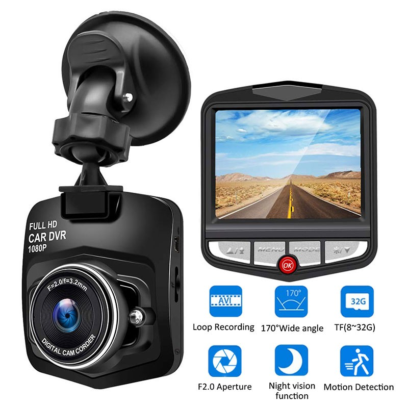 Car DVR Driving-Recorder Loop-Recording Dash-Camera Motion-Detection Night-Vision Wide-Angle title=