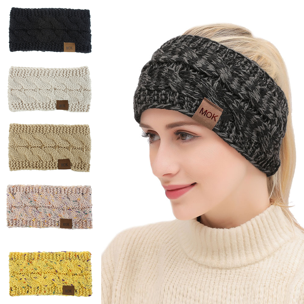 Winter Warmer Knitted Headband Women Fashion Crochet Turban Multicolor Wide Stretch Hairband Headwrap Hair Accessories