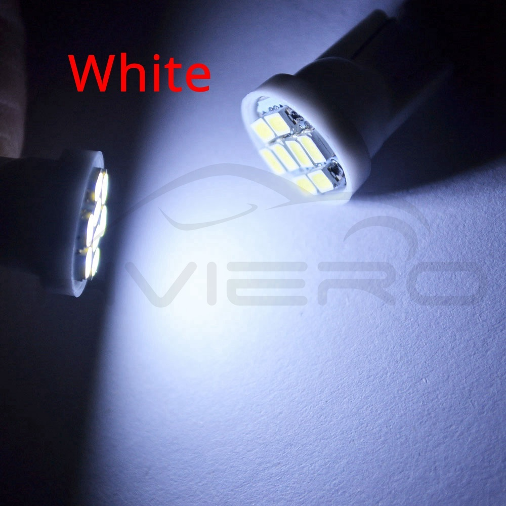 10x T10 24 SMD Interior LED Blue Motorcycle Truck RV Boat Car Light Bulb Trailer