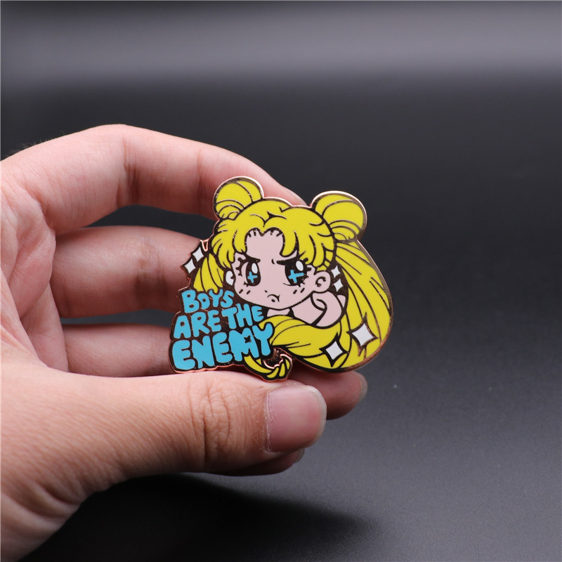 Original Card captor Sakura Sailor Moon Tsukino Usagi Soft Enamel Pin Brooch N