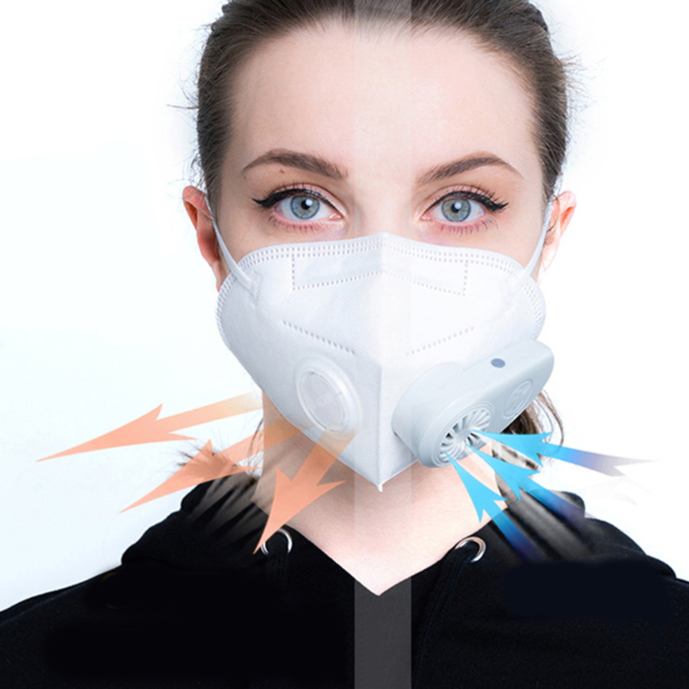 Electric Anti-Dust Meltblown Cloth Mask Ventilation Antifog PM2.5 Formaldehyde N95 Air Pollution Purifier Bacterial Barrier Mask