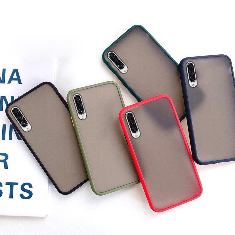For Samsung A50 A51 A71 A70 A91 Case Transparent Matte Protective PC TPU Case For Samsung A20 A30 A10 A40 A20E A10E A7 2018 Capa