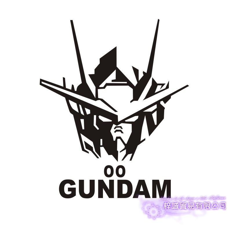 Pegatina GUNDAM Sticker Anime Cartoon Car Decal Sticker 00 Vinyl Wall Stickers  Decor Home Decoration