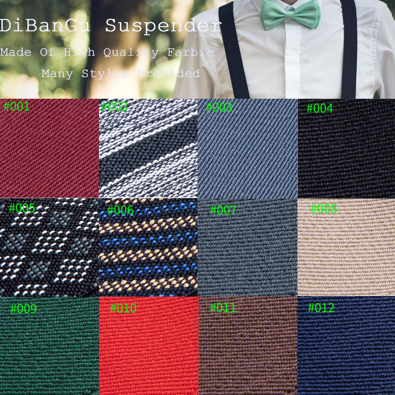 Unisex Neon Green /& Black Checkered Design Adjustable Braces 007