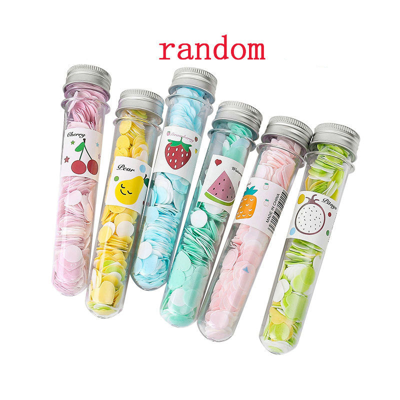 Portable Mini Body Washing Bath Test Tube Confetti Foaming Flower One Time Paper Soap Slice Travel Accessary