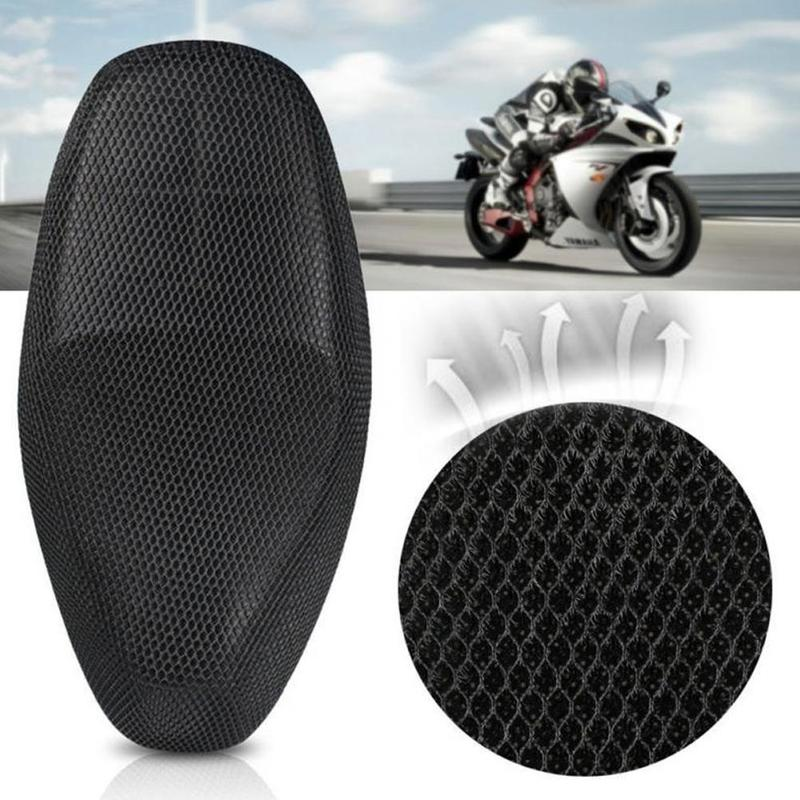 Motorcycle Seat 3d Mesh Summer Cool Sunscreen Breathable Cushion-Sleeve Anti-Skid Environment-Friendly title=