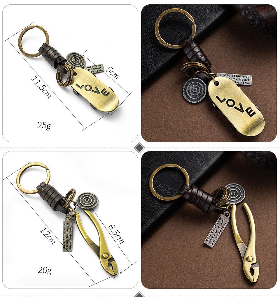 Fashion Car Key Chain Ring Lovers Couple Music Guitar Keyboard Gamepad Elephant Whistle Hat Tank Motorcycle Scooter for Key Tags Gifts (117)
