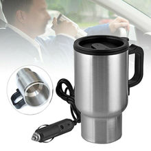 Mug Tea-Maker Electric-Heating-Cup Coffee Travel Stainless-Steel Fashion Car 450ml 12V