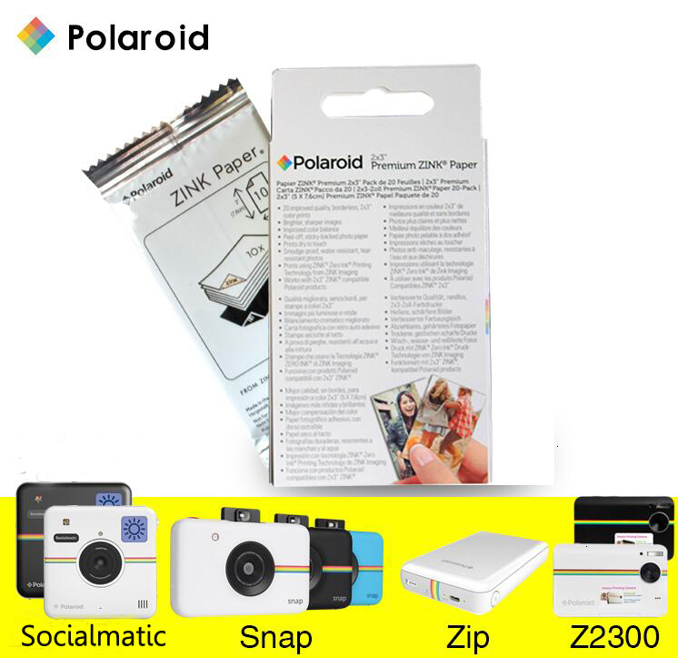 Black Polaroid PL2X3AB Photo Album for 2x3 Zink Paper
