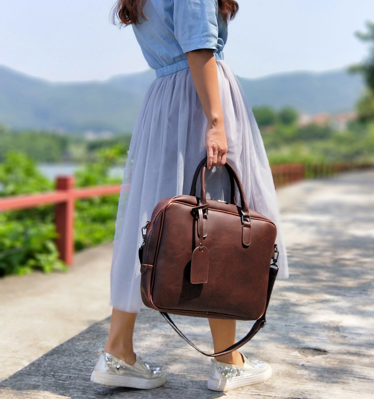 women leather briefcase  (1)