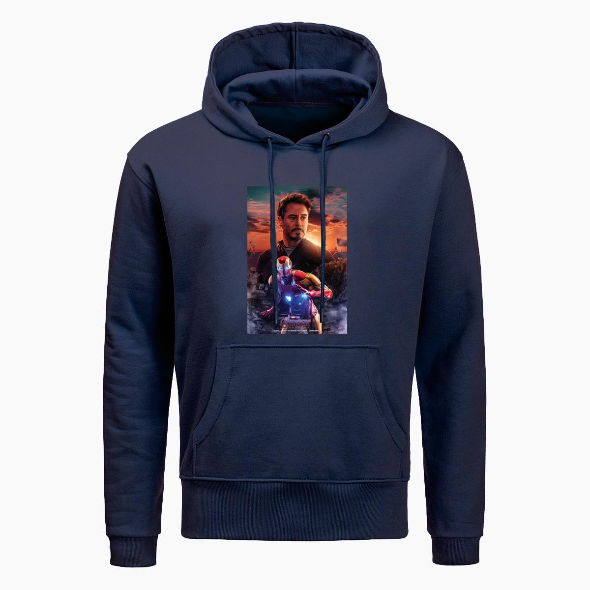 New Avengers Endgame Iron Man Tony Stark Print Hoodies Men Marvel Superhero Hoodie Fashion Autumn Wiinter Sweatshirt