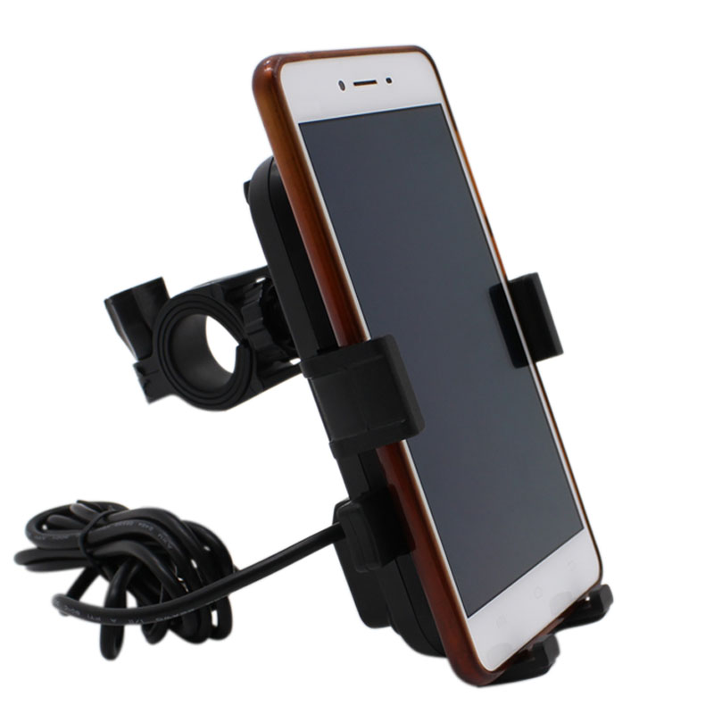 USB Charger Motorcycle Moto USB 12V Universal Waterproof Motorbike Phone Charger Bike Phone Holder Motorcycle Charger USB Phone