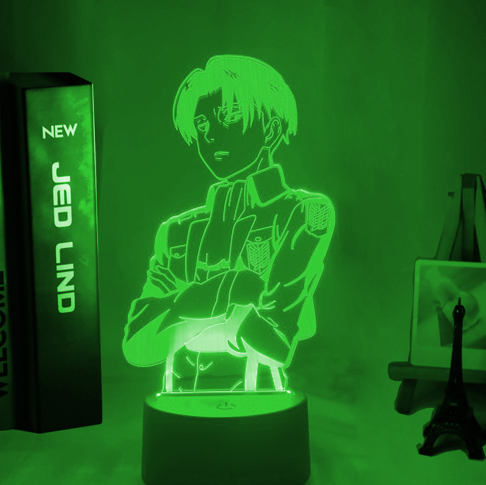 Acrylic Table Lamp Anime Attack on Titan for Home Room Decor Light Cool Kid
