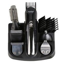 Kemei триммер для волос электрическая машинка для стрижки волос Мужская бритва для бороды Беспроводная стрижка многофункциональная бритва т...