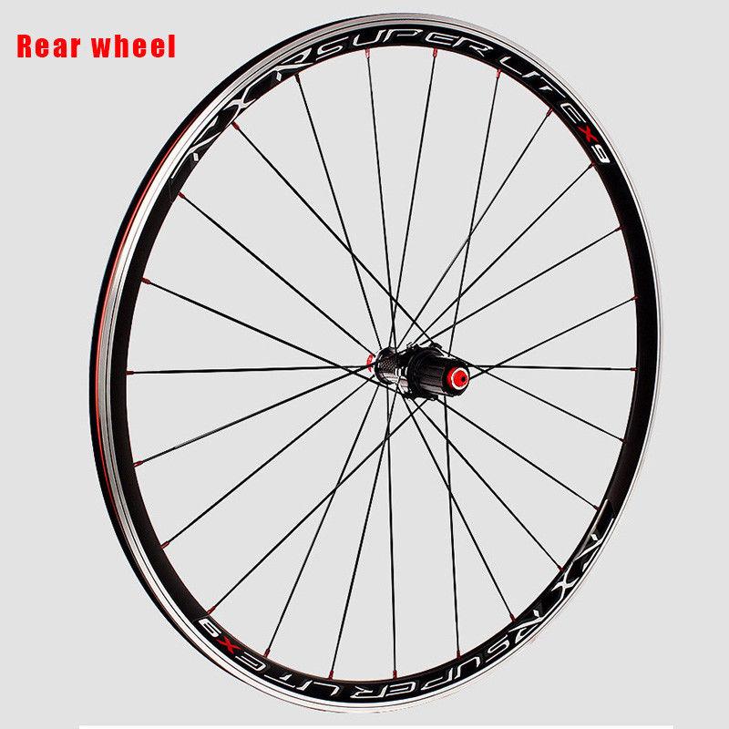 RXR 700C Bike Wheelset Carbon Hub Road Bike Bicycle F&R Wheels Wheelset Clincher Sealed Bearings 7-11 Speed V Brake (17)