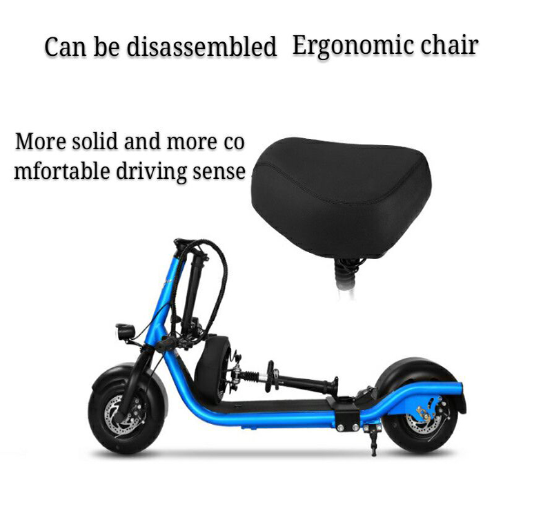 Electric Scooter Bike Two Wheels Electric Scooter 36V 350W Motorcycle Portable Smart Electric Citycoco Scooter With Seat         (2)