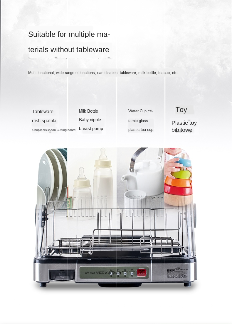 Xinjin Tableware Disinfection Machine Stainless Steel Cabinet Kitchen Rack Drain Rack Drying Disinfection LCD Screen UV Disinfection to Prevent Secondary Pollution