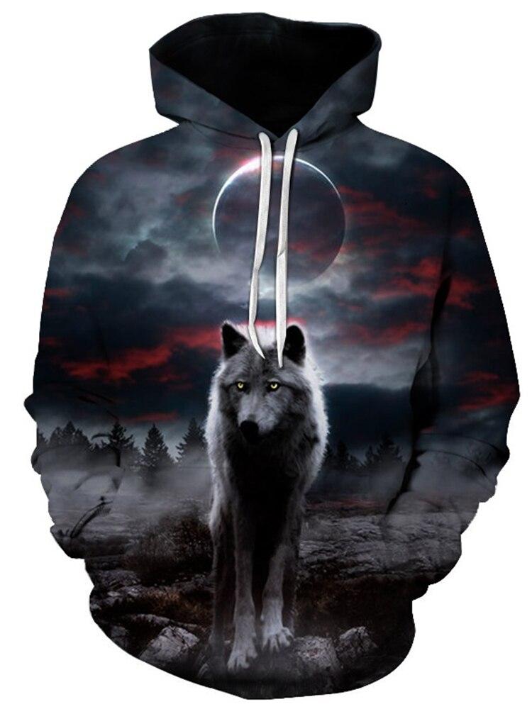 Women Wolf Animal Howl Full Moon Night 00429D1 Wolf Howl Ladies T-Shirt